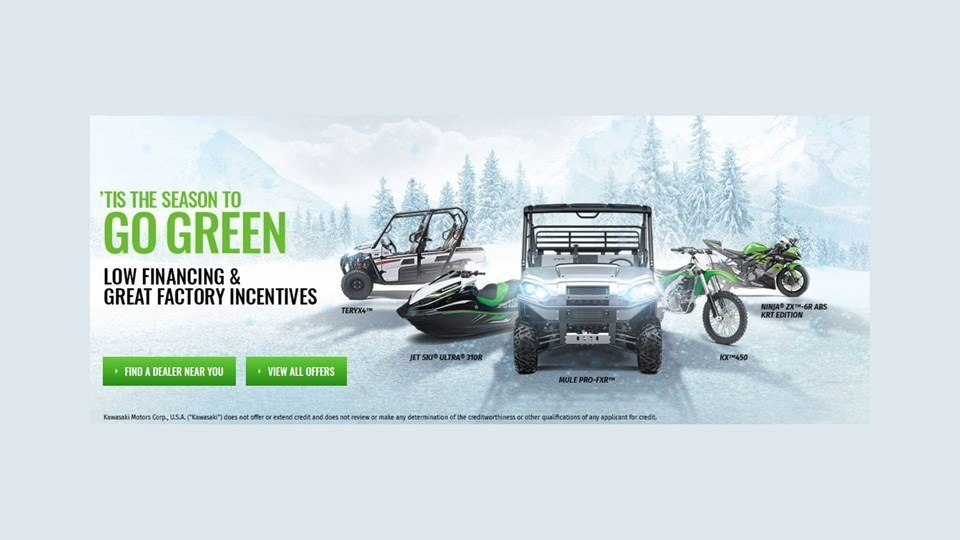 Kawasaki - 'Tis the Season to Go Green Sales Event